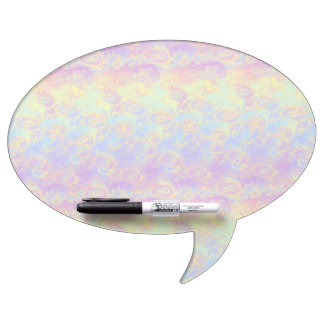 Bright Swirl Fractal Patterns Rainbow Psychedelic Dry-Erase Board