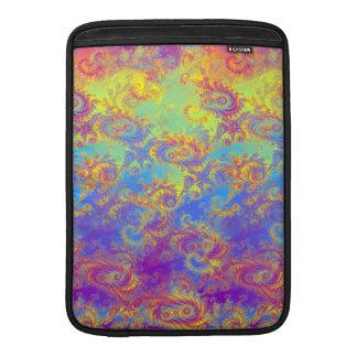 Bright Swirl Fractal Patterns Rainbow Psychedelic MacBook Air Sleeve