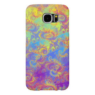 Bright Swirl Fractal Patterns Rainbow Psychedelic Samsung Galaxy S6 Cases