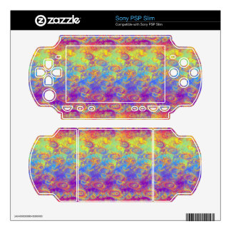 Bright Swirl Fractal Patterns Rainbow Psychedelic Decal For PSP Slim