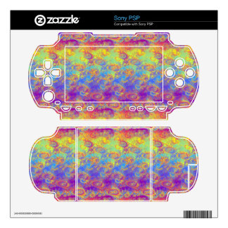 Bright Swirl Fractal Patterns Rainbow Psychedelic Skin For The PSP