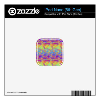 Bright Swirl Fractal Patterns Rainbow Psychedelic Decals For iPod Nano 6G
