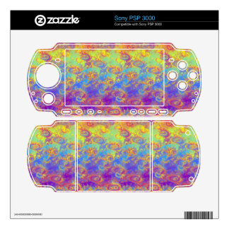 Bright Swirl Fractal Patterns Rainbow Psychedelic PSP 3000 Decal