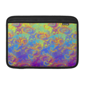 Bright Swirl Fractal Patterns Rainbow Psychedelic Sleeve For MacBook Air