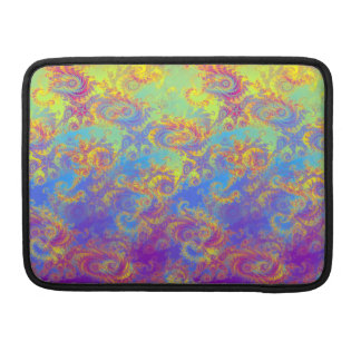 Bright Swirl Fractal Patterns Rainbow Psychedelic Sleeve For MacBook Pro