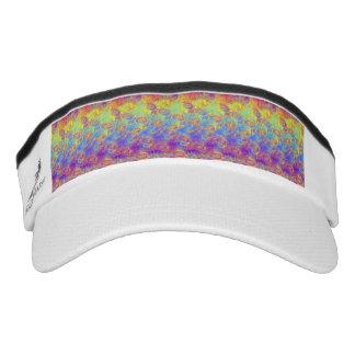 Bright Swirl Fractal Patterns Rainbow Psychedelic Visor