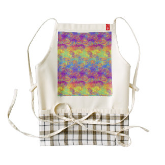 Bright Swirl Fractal Patterns Rainbow Psychedelic Zazzle HEART Apron