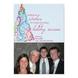 Bright Swirl Tree by Cotton Ink 5x7 Paper Invitation Card