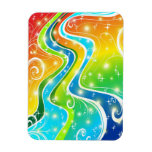 Bright Swirls and Colors Flexible Magnet