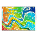Bright Swirls and Colors Greeting Card