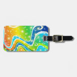 Bright Swirls and Colors Luggage Tag
