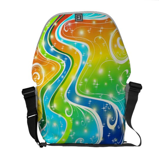 Bright Swirls and Colors Messenger Bag