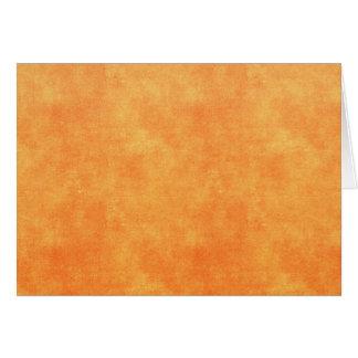 Bright tangerine orange card