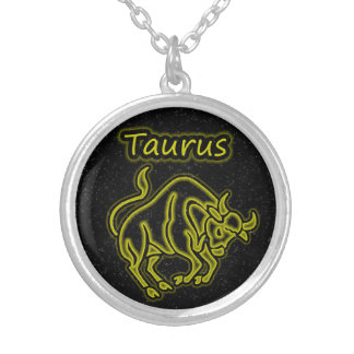 Bright Taurus Silver Plated Necklace