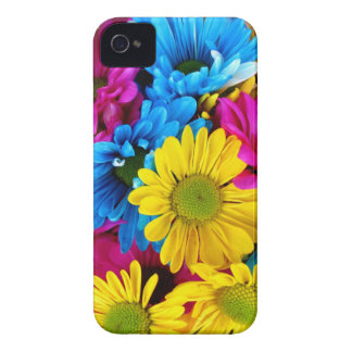 Bright Teal Hot Pink Yellow Daisies Flowers Gifts iPhone 4 Case-Mate Cases