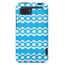 Bright Teal Turquoise Blue Waves Circles Pattern HTC Vivid Covers
