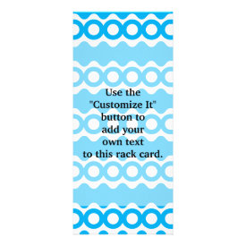 Bright Teal Turquoise Blue Waves Circles Pattern Custom Rack Card