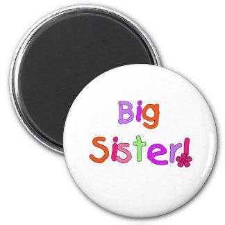Bright Text Big Sister Magnet