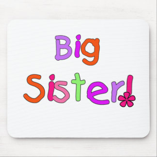 Bright Text Big Sister Mouse Pad