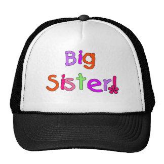 Bright Text Big Sister Trucker Hat