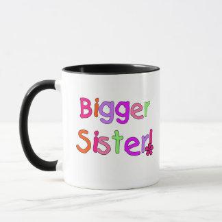 Bright Text Bigger Sister Mug