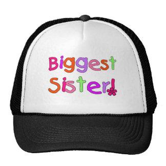 Bright Text Biggest Sister Trucker Hat