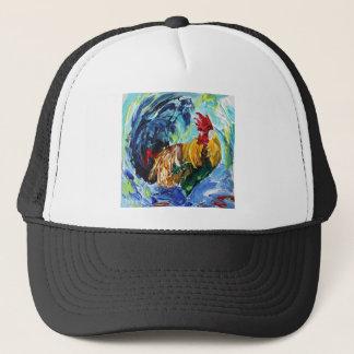 Bright textured design Ken the Rooster Trucker Hat