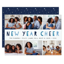 Bright Tidings | New Year Photo Collage Card