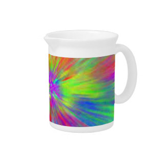 Bright Tie Dye Drink Pitcher