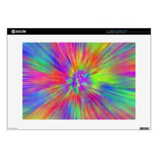 Bright Tie Dye Decal For Laptop