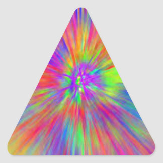 Bright Tie Dye Triangle Sticker