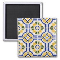 Bright tile pattern, Portugal Magnet