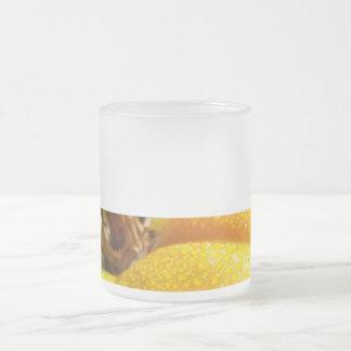 Bright Tomatoe Frosted Glass Coffee Mug