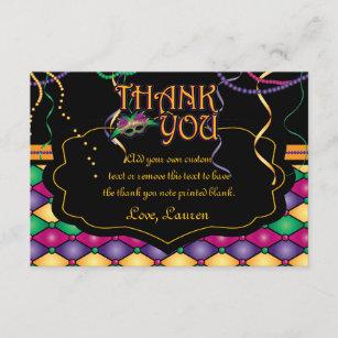 Mardi gras thank you gifts on zazzle bright traditional mardi gras thank you cards m4hsunfo