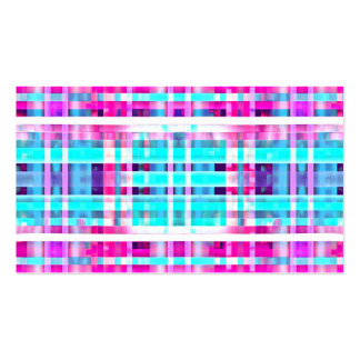 Bright Trendy Pink Teal Multicolor  Stripes Patter Business Card