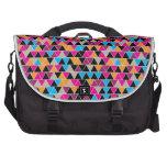 Bright Triangle Pattern Laptop Messenger Bag