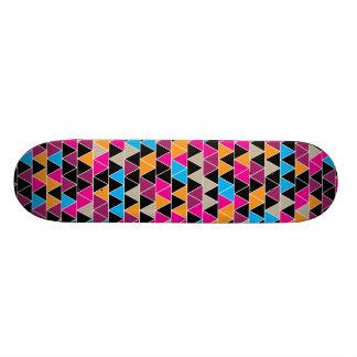 Bright Triangle Pattern Skateboard