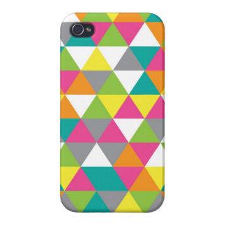Bright Triangles Iphone4 Case