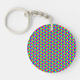 Bright triangles keychain