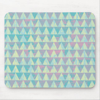 Bright Triangles Mouse Pad