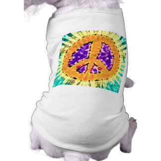 Bright Trippy Hippie Tie Dye Peace Sign T-Shirt