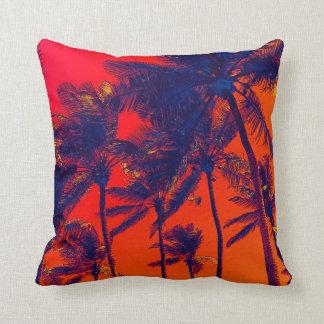 bright tropical palms toss pillows