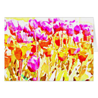 Bright Tulip Art Card