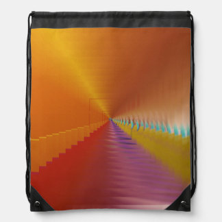 Bright Tunnel Escape Drawstring Backpack