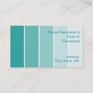Paint sample business cards zazzle bright turquoise paint samples business card colourmoves