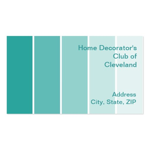 Bright turquoise paint samples business card zazzle - Bright turquoise paint colors ...