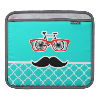 Bright Turquoise Quatrefoil; Funny Hipster Sleeve For iPads