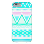 Bright Turquoise Tribal Barely There iPhone 6 Case