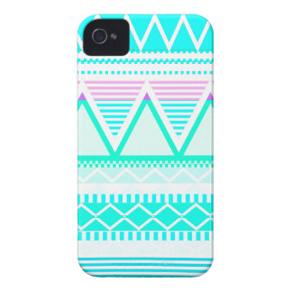 Bright Turquoise Tribal iPhone 4 Cases