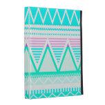 Bright Turquoise Tribal iPad Folio Case